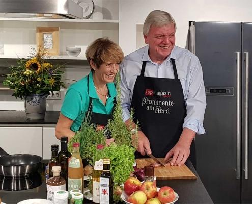 Volker & Ursula Bouffier kochen im KÜCHEN ATELIER GROHS